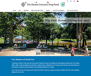 Boston Common Frog Pond web home page
