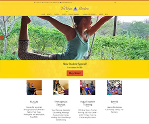 TriYoga Boston web home page